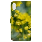 akane_artの菜の花 Book-style smartphone caseの裏面