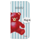 cocoartの雑貨屋さんの【Hug me】(赤くま)iPhone XS Max Book-style smartphone case