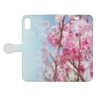 akane_artの八重桜 Book-style smartphone caseを開いた場合(外側)