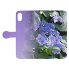 akane_artのアジサイ(紫) Book-style smartphone caseを開いた場合(外側)