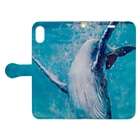 AWESOME CLOUDのwhale Book-style smartphone caseを開いた場合(外側)