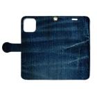 ミリススタイルのデニムからのデニム Book-style smartphone caseを開いた場合(外側)
