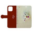 子どもの絵をオリジナル雑貨にします【aad (アード)】のiPhone手帳型ケース 【ぺろっとどうぶつ】ひつじ Book-Style Smartphone Caseを開いた場合(外側)