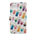 & colorsのアイスフロート   Book-style smartphone caseの裏面