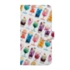 & colorsのアイスフロート   Book-style smartphone case