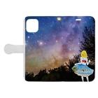 Ksukeのガール×写真×夜空 Book-style smartphone caseを開いた場合(外側)