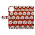 しも子®︎のカラフルしも子 Book-style smartphone caseを開いた場合(外側)