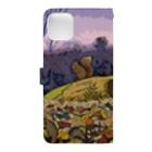 マキバドリのリス達の住む森 Book-style smartphone caseの裏面