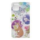 マキバドリの夢見る猫 Book-style smartphone caseの裏面