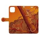 マキバドリの夕焼けワオキツネ Book-style smartphone caseを開いた場合(外側)