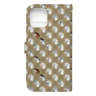 mint julepの華麗なる白毛馬の一族(ウッドチップ) Book-style smartphone caseの裏面