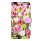 akane_art(茜音工房)の花フォト(チューリップ) Book-style smartphone case