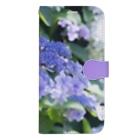 akane_art(茜音工房)の花フォト(アジサイ/紫) Book-style smartphone case