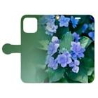 akane_art(茜音工房)の花フォト(アジサイ/緑) Book-style smartphone caseを開いた場合(外側)