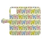 akane_art(茜音工房)のゆるチワワ(ポップ) Book-style smartphone caseを開いた場合(外側)