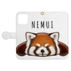 huroshikiのNEMUIレッサーパンダ Book-style smartphone caseを開いた場合(外側)