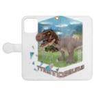 すとろべりーガムFactoryのティラノサウルス Book-style smartphone caseを開いた場合(外側)