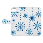さとろくの雪の結晶手帳型iPhoneケース 手帳型スマートフォンケース