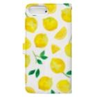 さとろくのレモン手帳型iPhoneケース Book style smartphone caseの裏面