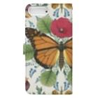 Fukuko55の蝶と花 Book-style smartphone caseの裏面