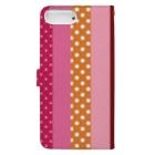 orange_honeyのストライプと水玉 4 Book-style smartphone caseの裏面
