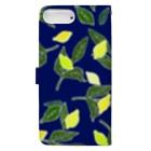 菜っぱの青と檸檬 Book-style smartphone caseの裏面