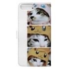 愛猫ちゃん達の毎日の猫ちゃんの被り物 Book-style smartphone caseの裏面