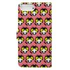やぶのやぶねこドット(ピンクグレープフルーツ) Book-style smartphone caseの裏面
