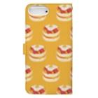 リズのベーコンエッグパンケーキ[黄]  Book-style smartphone caseの裏面