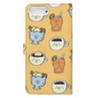ゴキゲンサンショップの純喫茶 Book-style smartphone caseの裏面