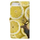 okusennの鹿と レモン Book-style smartphone caseの裏面