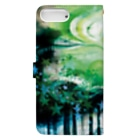 いけはら咲の明闇の森 手帳型スマホケース Book-Style Smartphone Caseの裏面