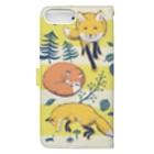 マキバドリのキツネの森 Book-style smartphone caseの裏面