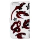 あやるの爬虫類(模様入) Book-style smartphone caseの裏面