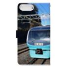 egpuromasaの鉄道(夏) Book-Style Smartphone Caseの裏面