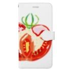 とりごえ雑貨店の水玉トマト Book-style smartphone case