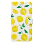 さとろくのレモン手帳型iPhoneケース Book-style smartphone case
