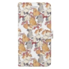 SCHINAKO'SのBunnies and Ribbons Book style smartphone case
