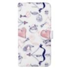 dandyism-neco.com goodsのLove柄手帳スマホケース Book-style smartphone case