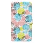 dandyism-neco.com goodsの毛玉ネコ柄手帳型スマホケース Book-style smartphone case