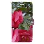 fun timeのPink camelia blooming カメリア Book-style smartphone case