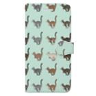豆つぶのTabbies Cat(総柄) Book-style smartphone case