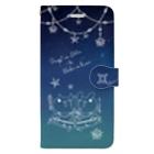 MOFUYAのにゃんぴょん双子座スマホケース Book-style smartphone case