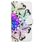 @chu_Dのカラフル ブーケ Book-style smartphone case