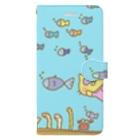 👓ぷんちん📷@LINEスタンプ販売中🐷のぶぅちゃんとポコの水族館デート Book-style smartphone case