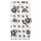 カラフルマルシェのベネチアンガラスの小花柄 パープル Book-style smartphone case