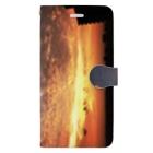ANGOの空、サンライズ、サンセット、朝焼け、夕焼け Book-style smartphone case