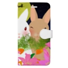 asahiyoruaの月見ちゃん仲良しグッズ Book-style smartphone case