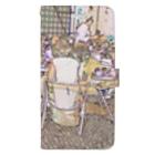 FUCHSGOLDのCG絵画:カフェテラス CG art: Sidewalk café Book-style smartphone case