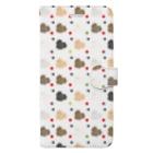 南川のハッピーポメニティ WHITE Book-style smartphone case